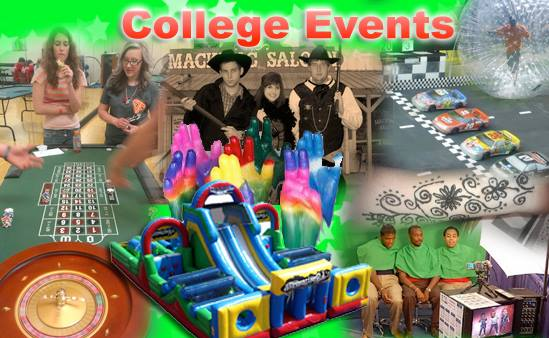College entertainment and novelties for hire Michigan